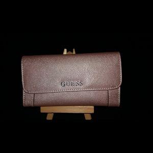 NWOT Pink Metallic Guess Wallet